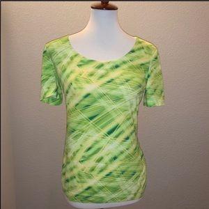 Escada Lime Green Blouse Size 38 Medium